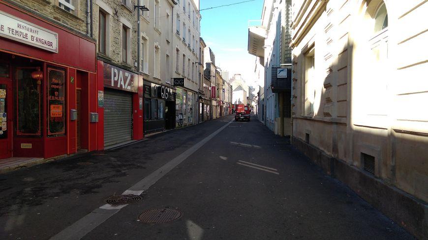 La rue de la Paix à Cherbourg