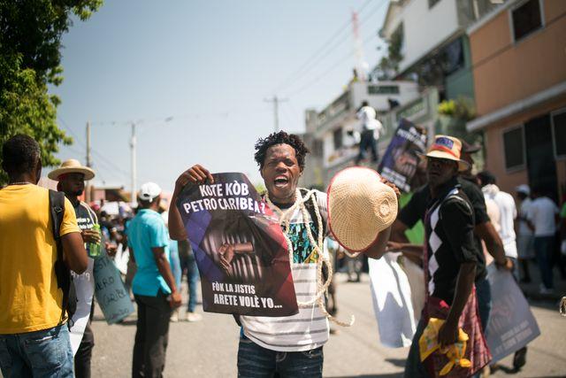 Parmi les revendications des manifestants, la transparence autour de l'utilisation du fonds d'aide PetroCaribe
