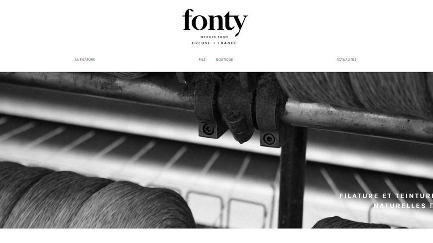 Le site permet de voir les collections de la filature et de passer commande.