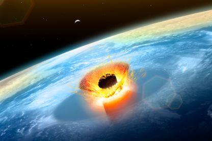 Impact d'astéroïde sur la Terre