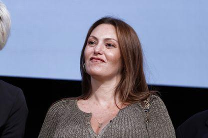 L'actrice Karole Rocher à la cérémonie d'ouverture du 9ème festival du film lumière à Lyon le 14 octobre 2017.