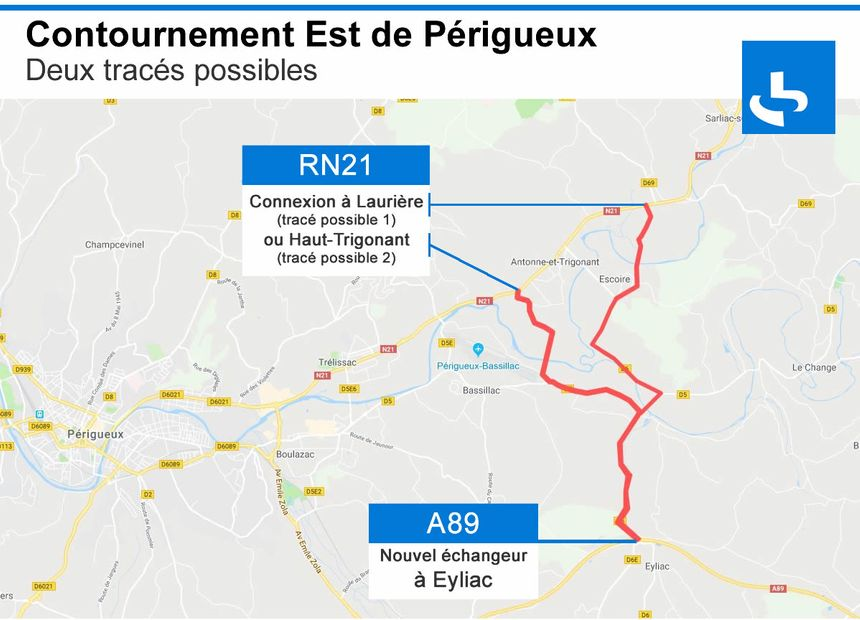 Contournement Est de Périgueux : deux tracés possibles