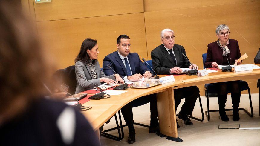 Alexandre Benalla lors de son audition devant la commission des lois du Sénat.