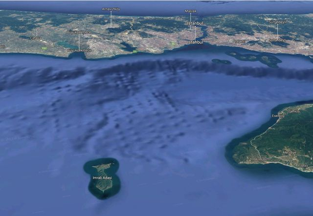 L'île d'Imrali en mer de Marmara, au sud d'Istanbul, où est emprisonné Abdullah Öcalan depuis 20 ans.