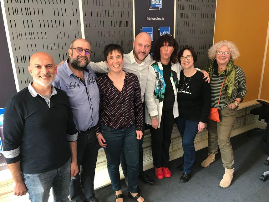 Jean-Brice avec nos auditeurs invités de France Bleu Alsace
