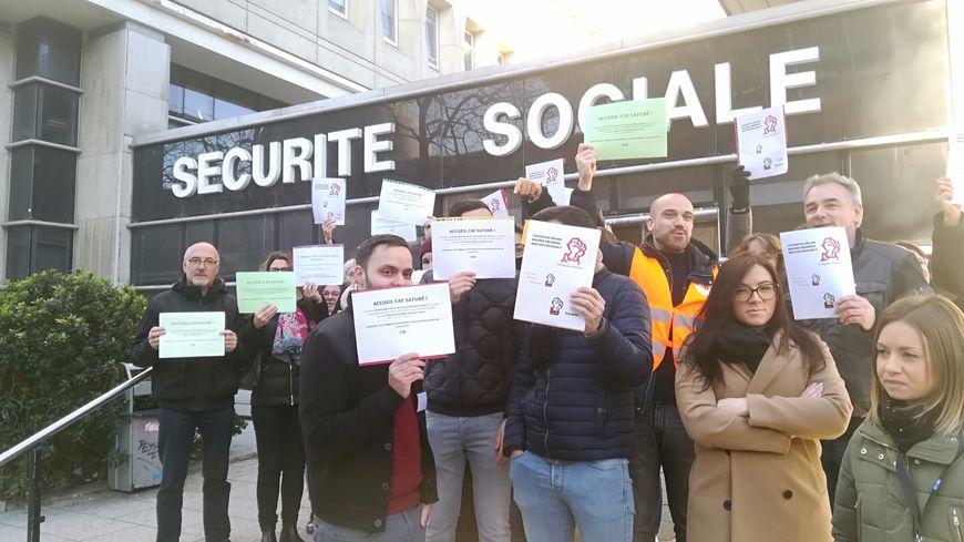 Ce jeudi 14 février, une partie des employés de la CAF d'Ille-et-Vilaine ont appelé à débrayer de 10 h 30 à 11 h 30.