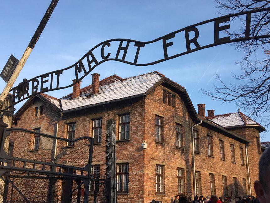 L'entrée du camp d'Auschwitz I