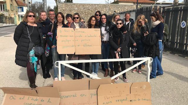 Les profs mobilisés demandent le départ du principal
