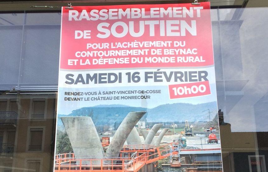 le conseil départemental de la Dordogne appelle à manifester contre l'arrêt des travaux de la déviation de Beynac