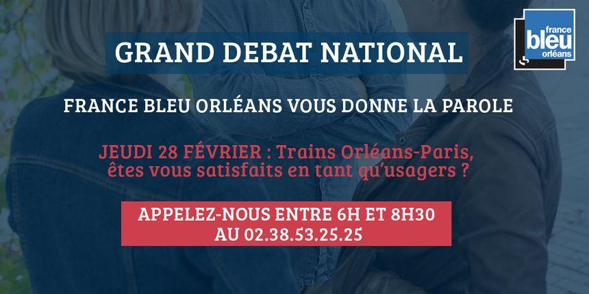 Venez donner votre avis ou partager votre expérience sur la ligne SNCF Orléans-Paris ce jeudi en nous appelant au 02.38.53.25.25