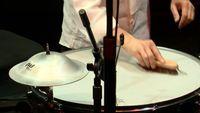 Improvisation du percussionniste Michele Rabbia