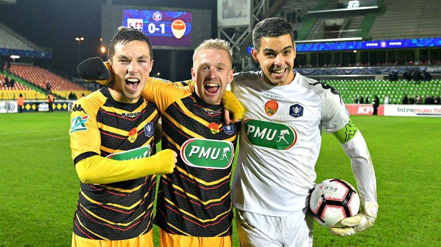 La joie des Orléanais après leur victoire en 8e de finale de la Coupe de France face à Metz