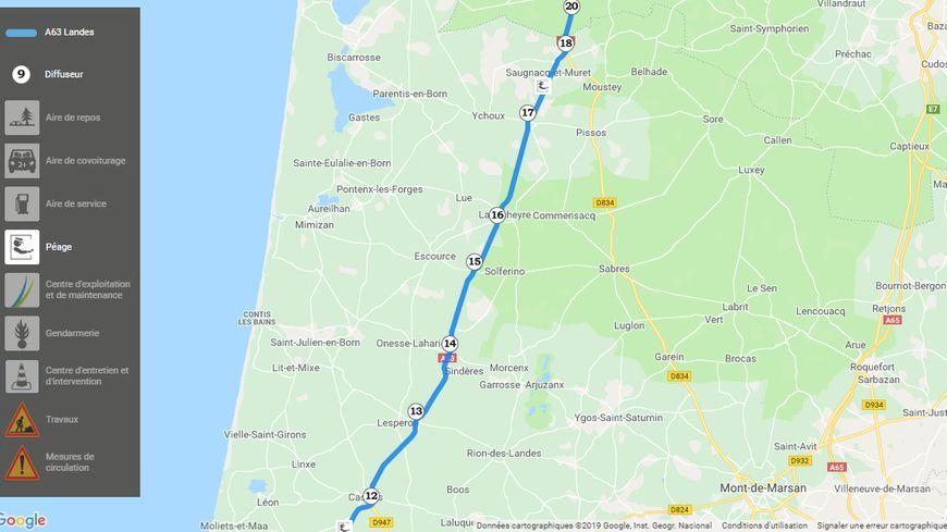 Les automobilistes contournent les deux seules barrières de péage de l'A63 dans les Landes pour ne pas payer, avec des nuisances pour les communes traversées par un flot de voitures et de camions.