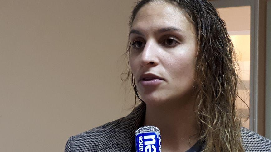 Alexia Plagnard après le match contre les Belges de Wavre- Sainte-Catherine, en Coupe d'Europe