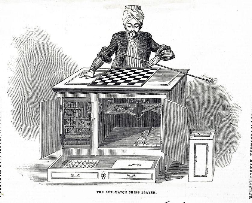 Le Turc mécanique de Wolfgang von Kempelen (1734-1804)