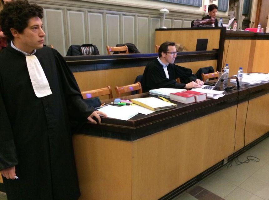 Les avocats des parties civiles, lors du procès de Kader Djidel pour l'assassinat d'Erika