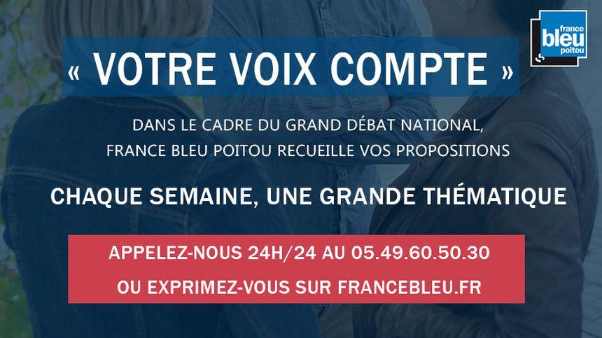 Toutes les semaines, France Bleu Poitou vous donne la parole dans le cadre du Grand débat national