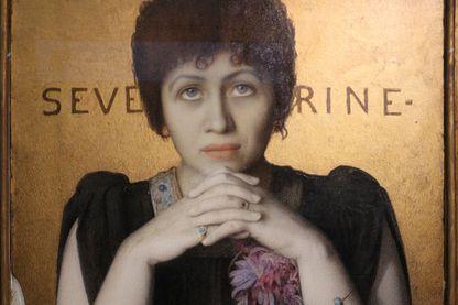 Portrait de Séverine par Louis Welden Hawkins, peint vers 1895 (exposé au Musée d'Orsay). Photo par Sailko (CCA3)