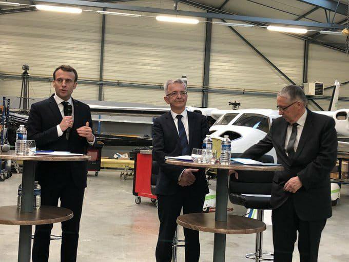 Emmanuel Macron devant les acteurs économiques de l'Indre
