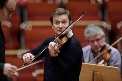 Le violoniste Renaud Capuçon, le 27 avril 2017 au Philharmonic Cologne.