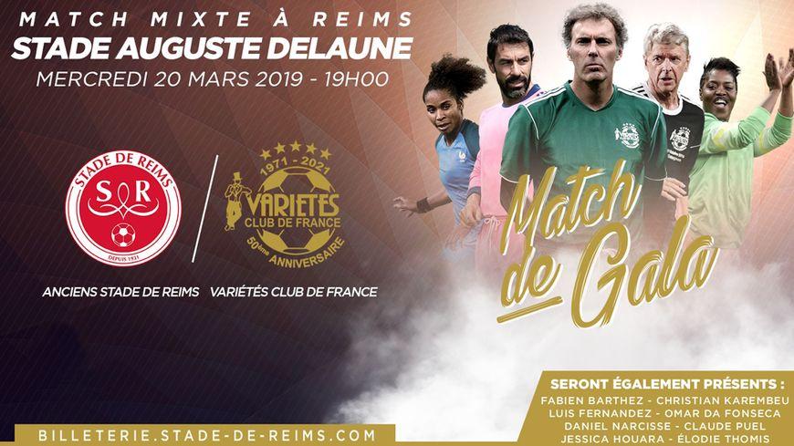 Les joueurs et joueuses de Jacques Vendroux  affrontent une sélection d'anciens du Stade de Reims