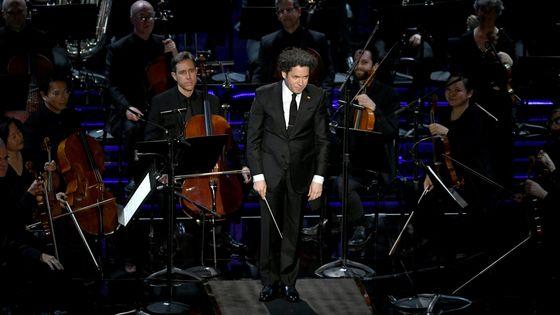 Gustavo Dudamel à la 91e cérémonie des Oscars en 2019 avec le Los Angeles Philharmonic.