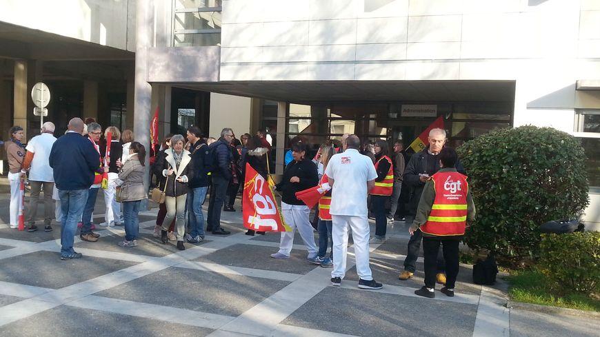 Mouvement de protestation à l'hôpital d'Avignon.