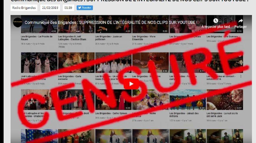 """""""Nous avons été censurées"""" disent les Brigandes dans un communiquée"""