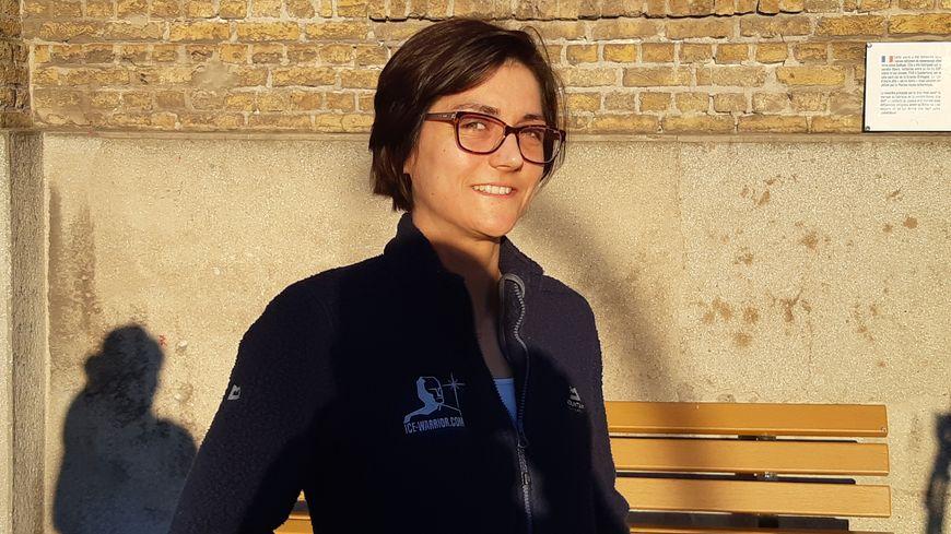 Claire Bénard participe à l'expédition polaire Ice Warrior en février 2020.