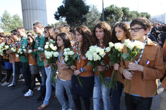 Marche blanche organisée à Toulouse le 25 mars 2012 en mémoire des victimes de l'école juive Ozar Hatorah