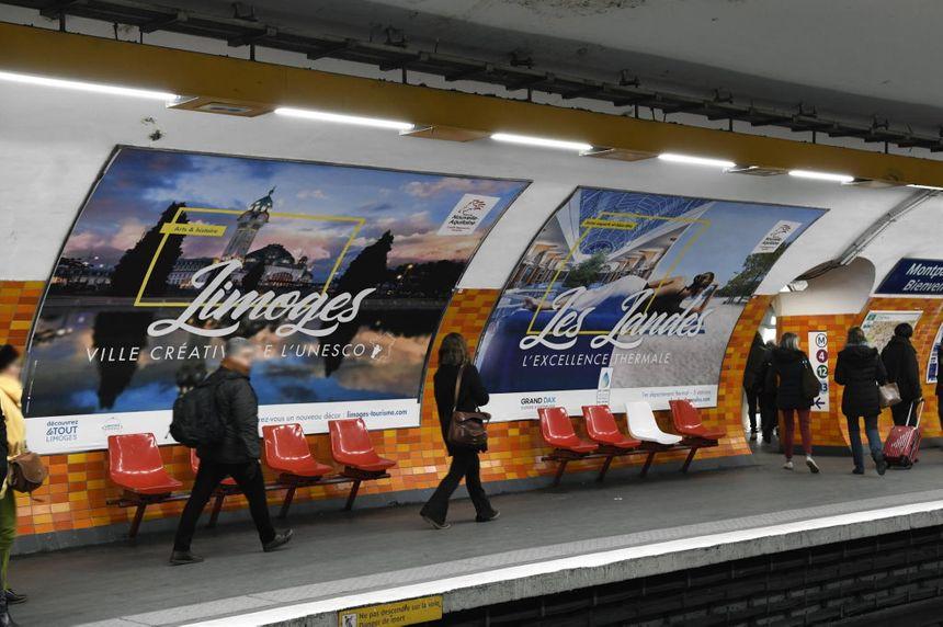 Limoges s'affichera de nouveau dans le métro du 1er au 15 avril 2019