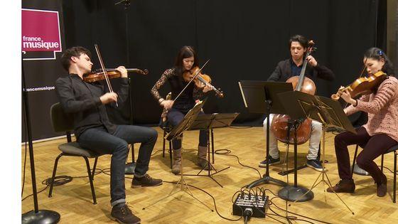 Debussy I Quatuor à cordes (Andantino) par le Quatuor Hermes