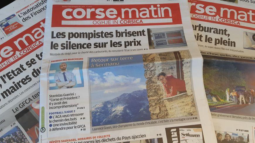 """Résultat de recherche d'images pour """"corse matin"""""""