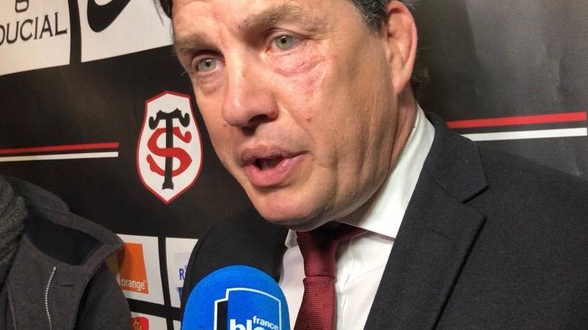 Didier Lacroix, le président du Stade Toulousain, après le match Toulouse-Montpellier