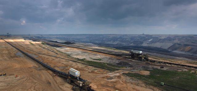 Site d'extraction de lignite de RWE en Allemagne