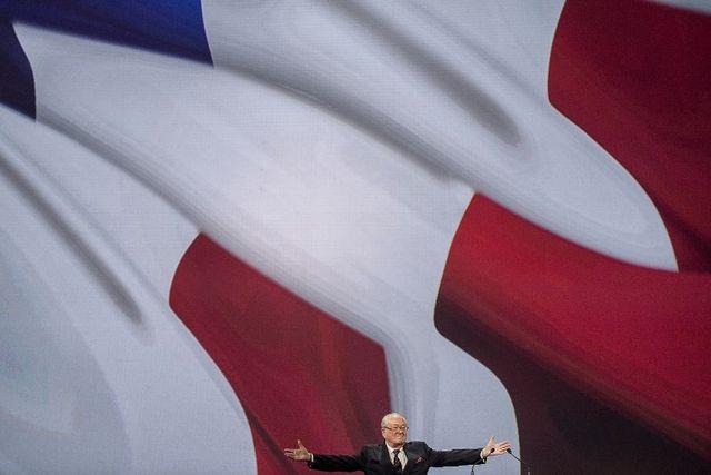 Jean-Marie Le Pen lors d'un Congrès du parti à Lyon en 2014