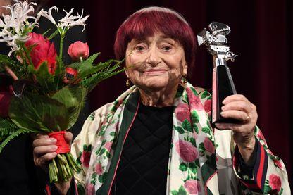 Agnès Varda récompensée lors de la 69e édition de la Berlinale le 13 février 2019.