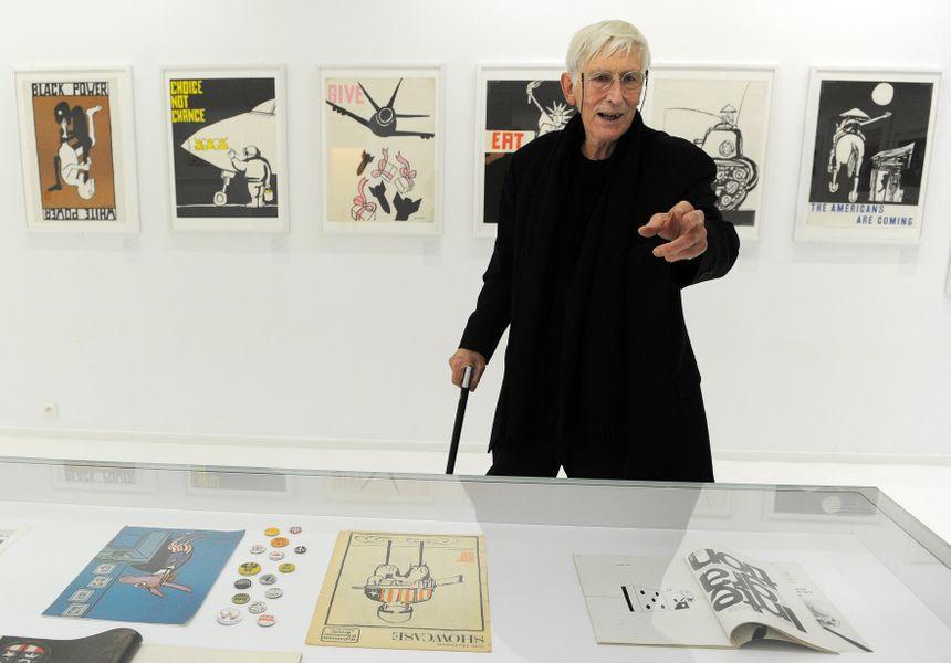 Tomi Ungerer dans le musée qui lui est consacré à Strasbourg.