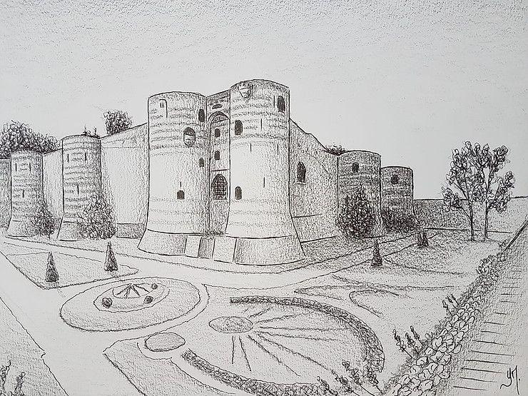 Le château d'Angers dessiné par Yann Messence