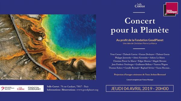 """""""Concert pour la Planète"""" jeudi 4 avril à la Salle Cortot"""