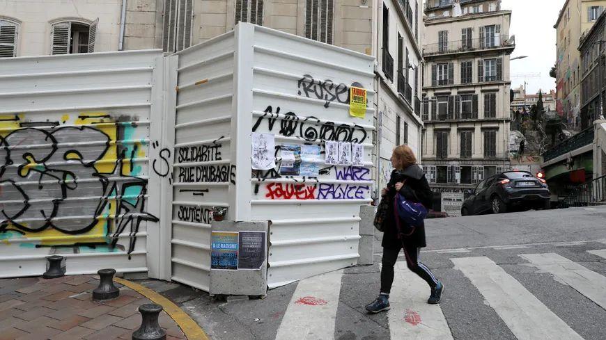 Périmètre de sécurité rue d'Aubagne à Marseille (photo d'illustration)