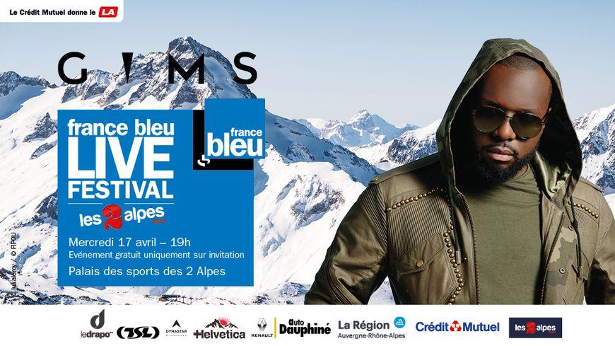 Gims au France Bleu Live Festival aux 2 Alpes
