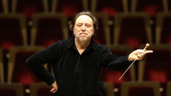 Italian conductor Riccardo Chailly rehearses with the Gewandhaus Orchestra in Leipzig, Germany, 19 February 2013. Born in Milan, he became music director of the Gewandhaus in Leipzig in 2005 and conducts the world famous orchestra. He will turn 60 on