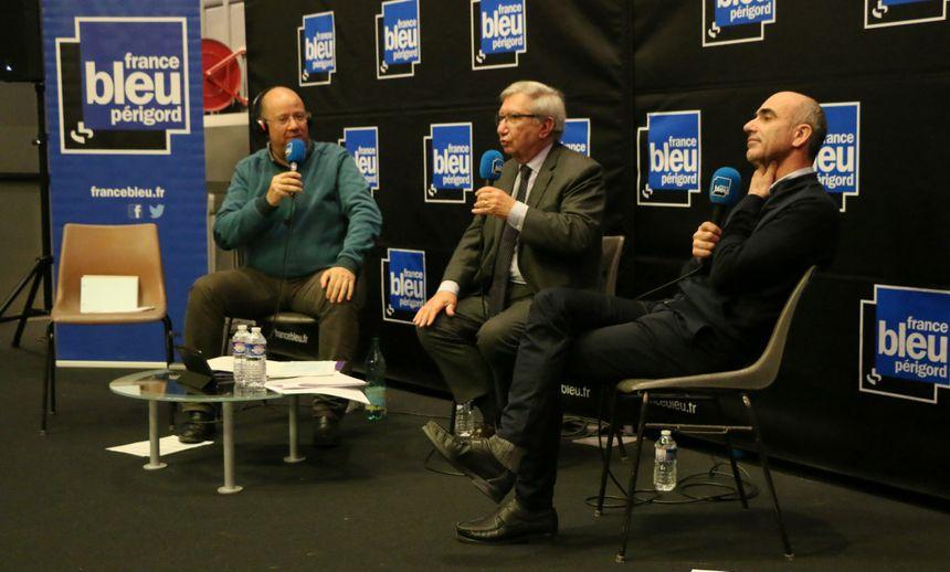 Le sénateur LREM Bernard Cazeau et le maire de Montignac Laurent Mathieu ont participé à ce débat.