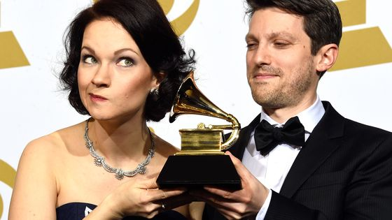 Hilary Hahn et Cory Smythe aux 57° Grammy Awards (2015)