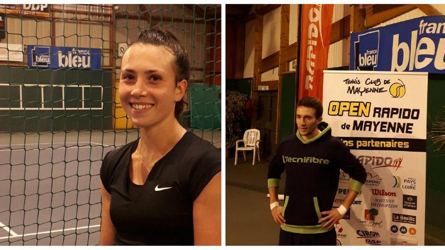 Lucie Wargnier et Rémy Boutillier, deux des quatre finalistes de l'Open Rapido 2019