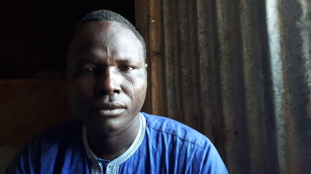 Ali Abdallah, déplacé réfugié à Koulkimé