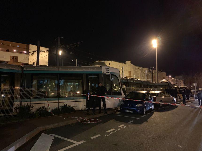 Collision entre deux tramways T2 lundi 11 février