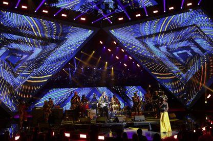 -M-, Fatoumata Diawara, Sidiki Diabate et Toumani Diabate lors des Victoires de la Musique 2018