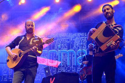 Kalàscima, en concert pendant le Festival folklorique international de Plasencia, (dans l'ouest de l'Espagne), le 24 août 2018.
